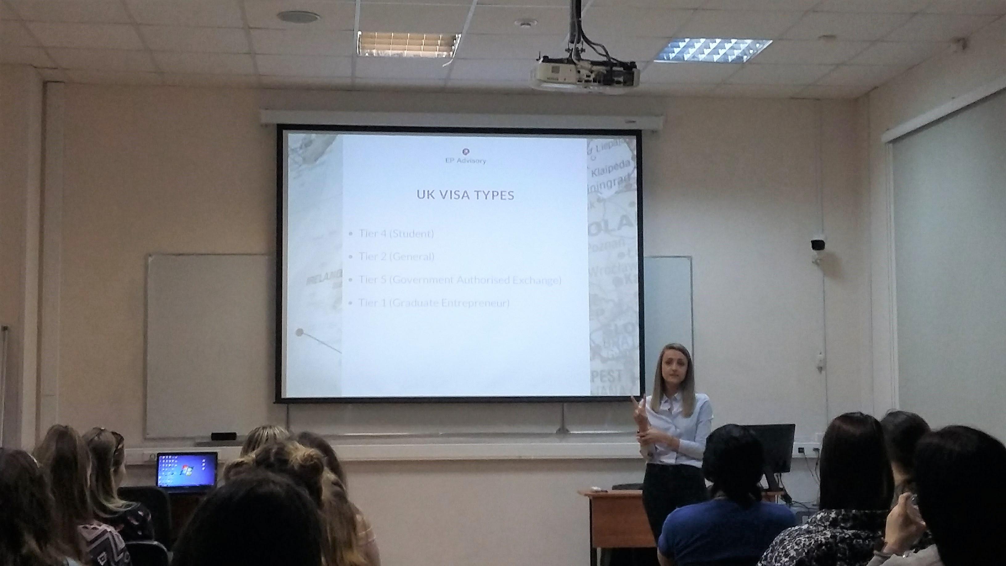 Lecture by Elizaveta Proselkova, founder of EP Advisory