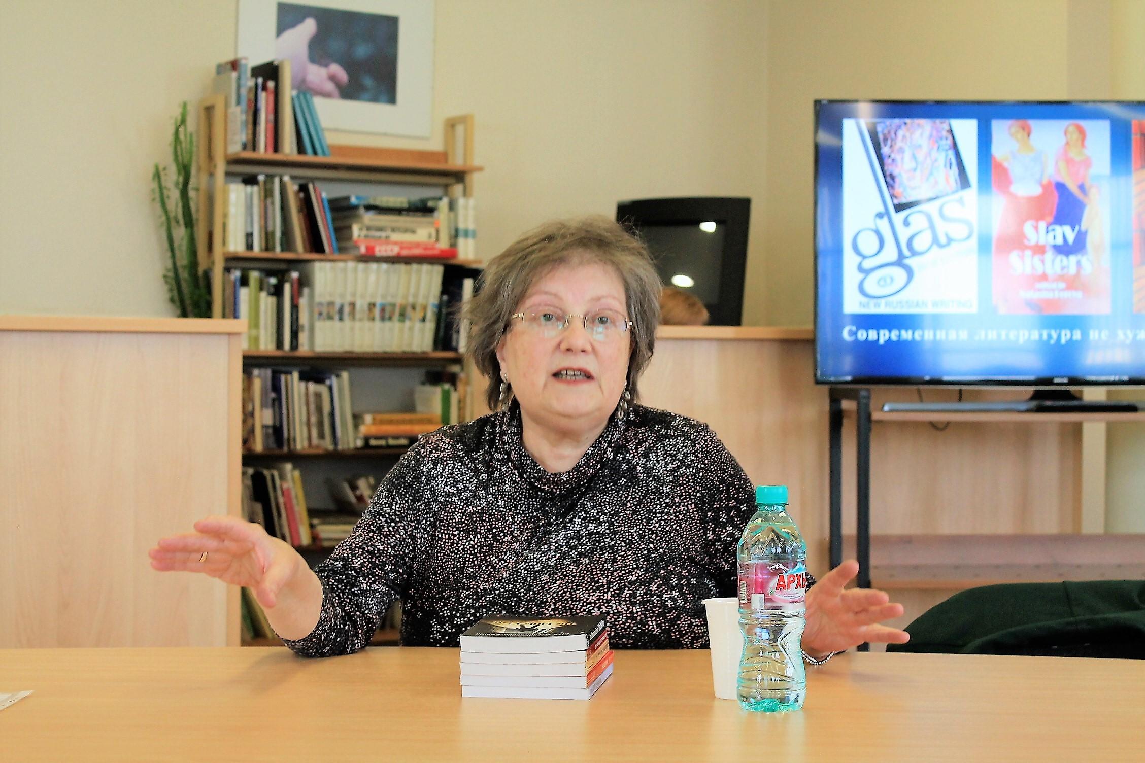 Special guest Natasha Perova speaks on contemporary Russian literature