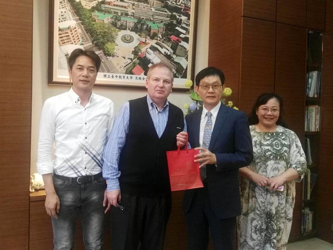 Professor Vladimir Kurdyumov visiting National Taichung University of Education