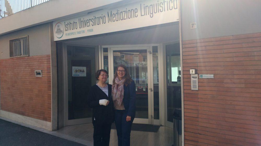 Associate Professor Oksana Dubnyakova lecturing in Italy