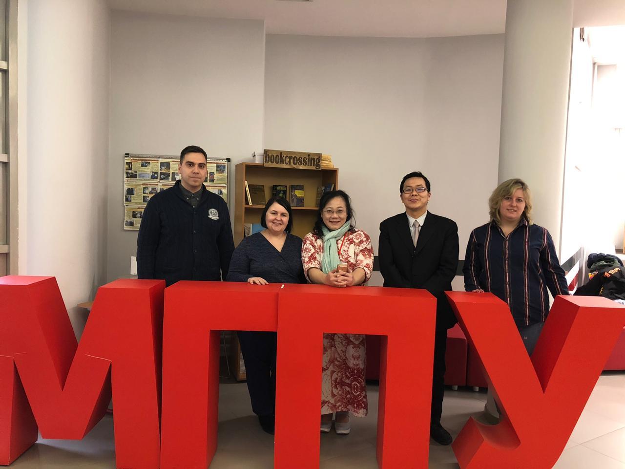 台湾代表访问了莫斯科市立大