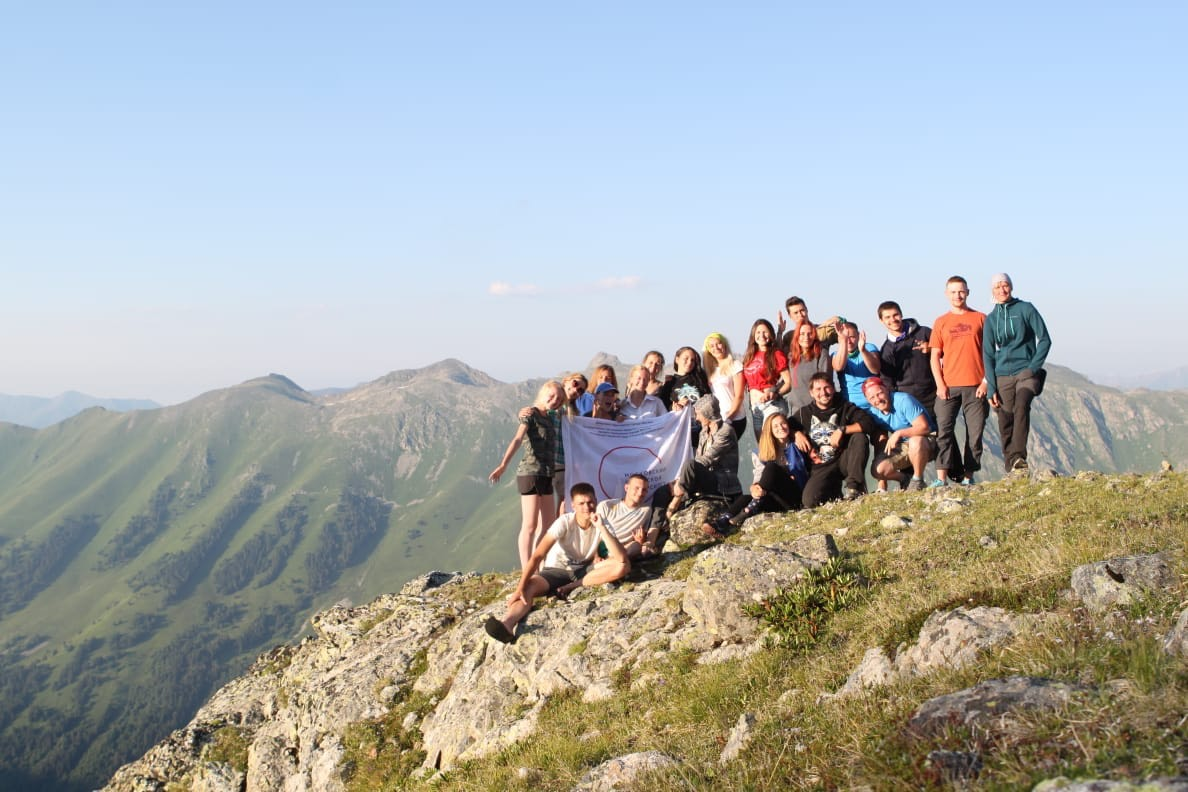 MCU students on expedition in the mountains