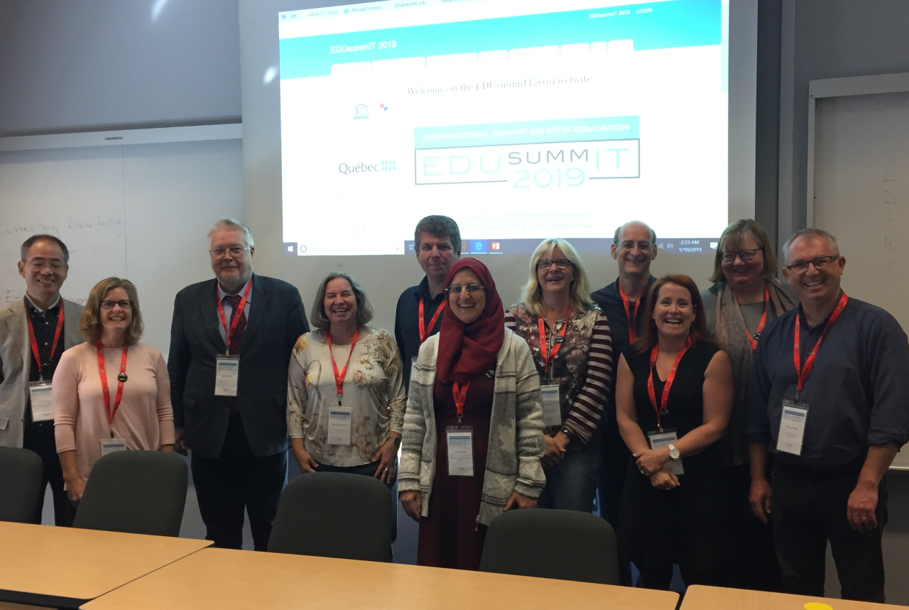Professors of the Institute of Digital Education at the EduSummIT 2019