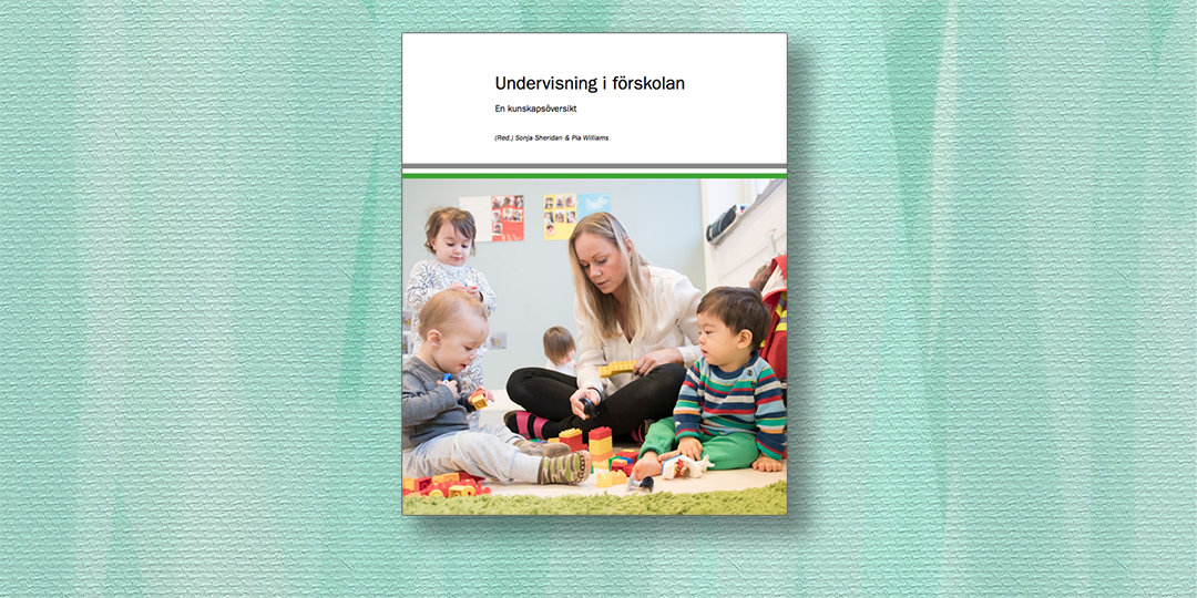 A book on preschool education released by University of Gothenborg and MCU
