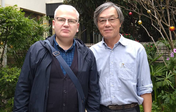 Professor Vladimir Kurdyumov visiting National Kaohsiung Normal University